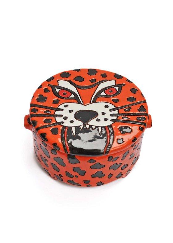 Ceramic   Dramatic tiger box