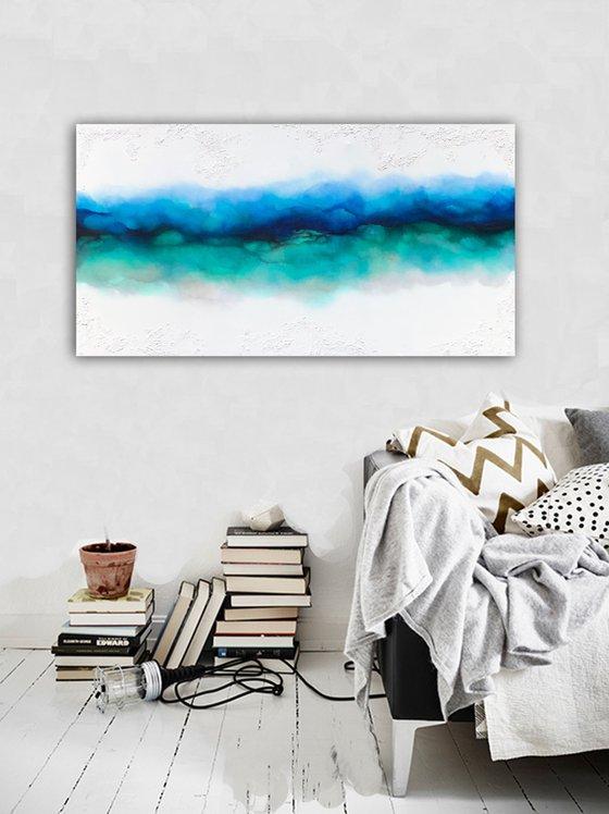 green rawness blues  (140 x 70 cm) Dee Brown