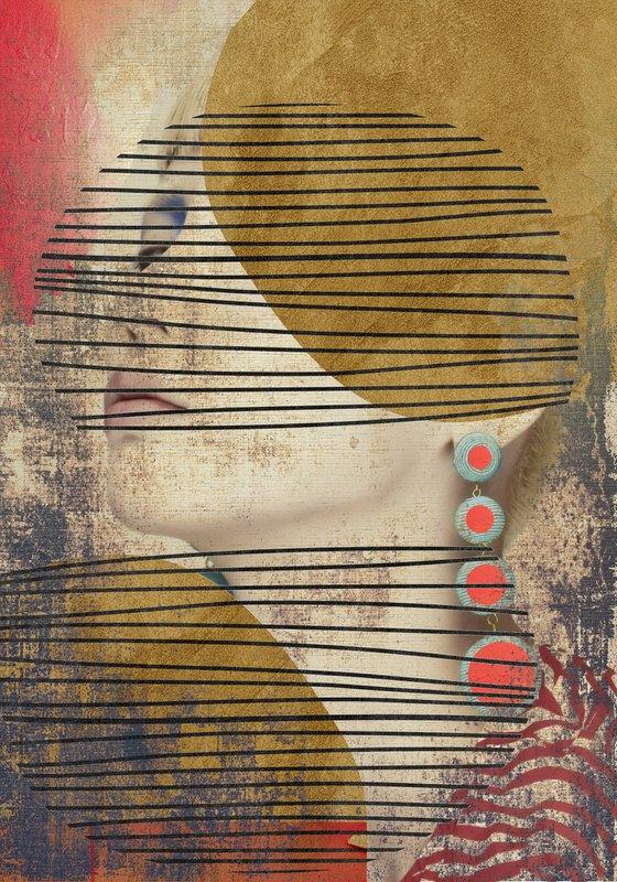 "Face art collection ""Fedbergsun"" - Vol 40. Art portrait on canvas"
