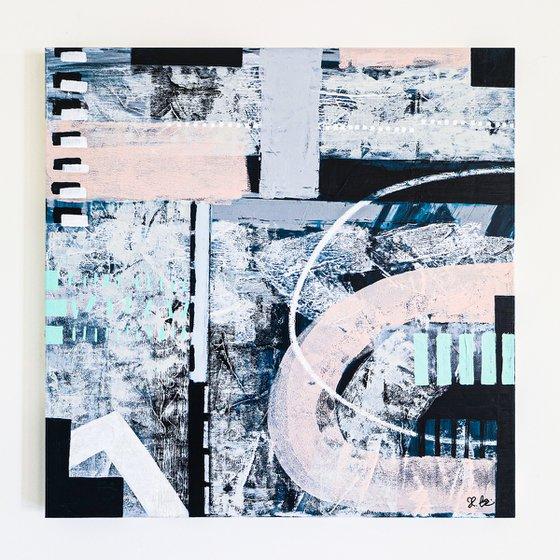 "Abstract Painting - Tempus (Original, 36""x36""   91x91 cm)"