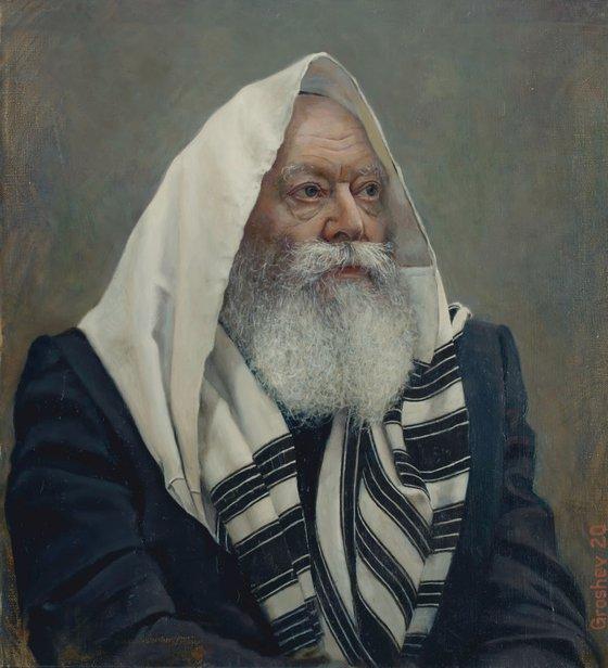 Rebbe at prayer