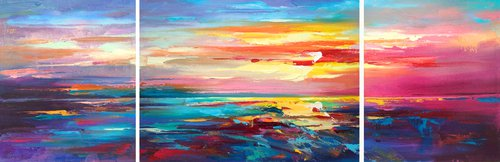 Abstract morning seascape 03