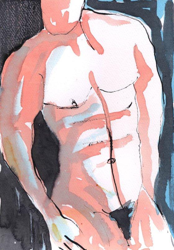 Lost -Nude Male Study