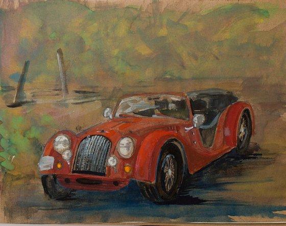 Red Morgan Sports car