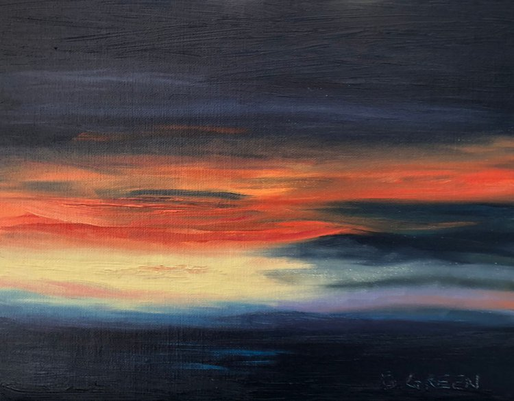 86598b5eaac08 Midnight Sunset Oil painting by William Green | Artfinder