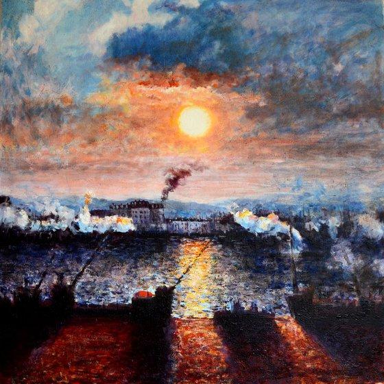 Impression of Sunset, Rouen