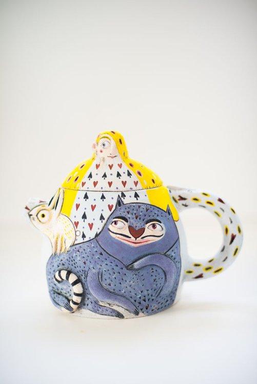 Alice In Wonderland Teapot By Nastia Calaca Artfinder