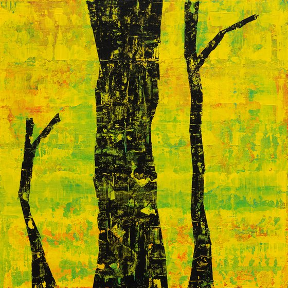 Tree without a top - Abstract painting