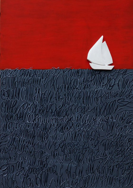 """""""Boat Trip In Gray & Red"""""""