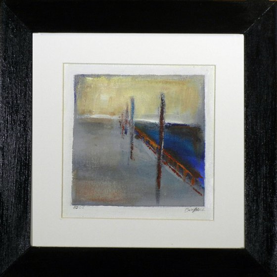 Small Framed Painting BJ05 Abstract Boardwalk