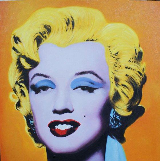 """""""Marilin Monroe"""" Canvas / Acrylic. size 60x60 cm"""