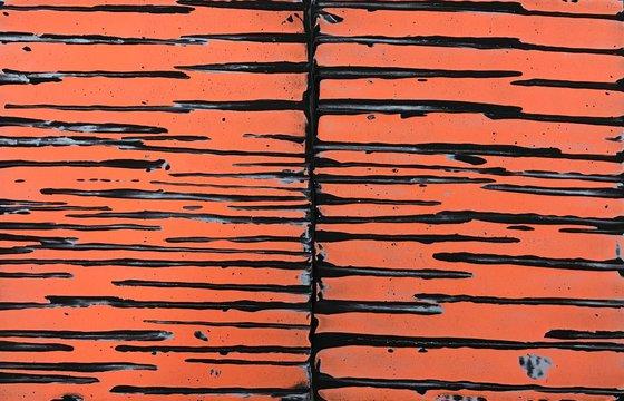Untitled (black, blue, orange), 2020