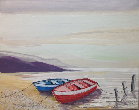 Two little rowing boats
