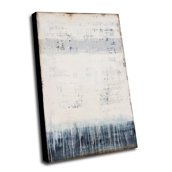 DIRTY BLUE *** ABSTRACT ACRYLIC PAINTING ON CANVAS *** 120 x 80 cms