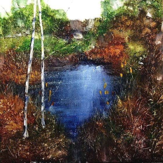 Old farm pond 41cm x 41cm x 3mm