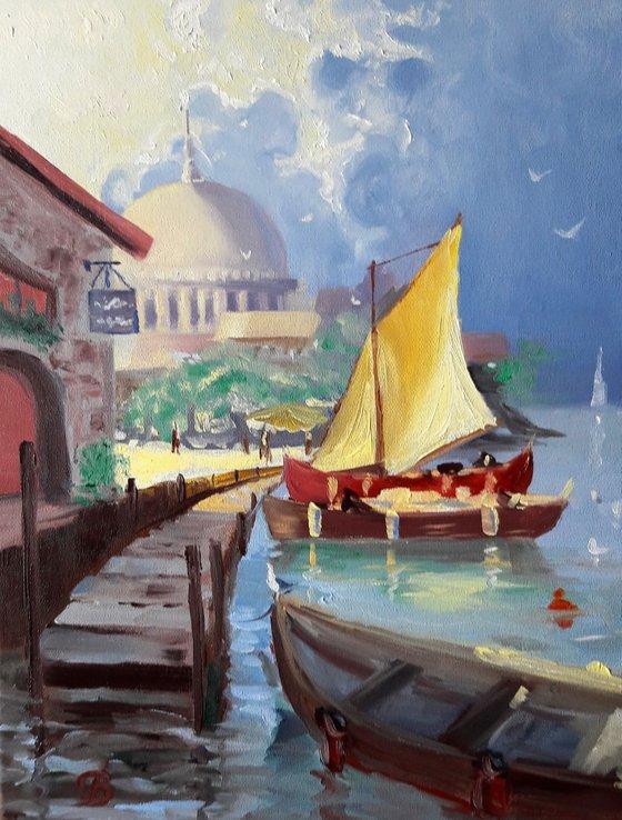 Yvoire harbour.