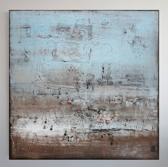 A164 (Contemporary abstract Spiritual Architecture Landscape Acrylic on canvas Large wall art Painting Series)