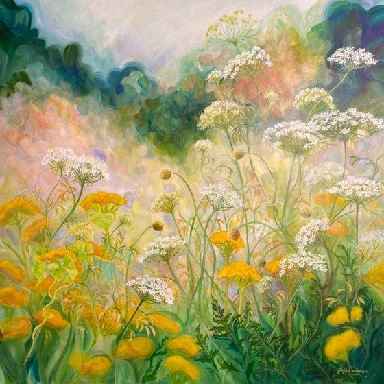 Replenish- Summer garden Nature painting