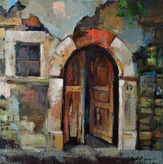 Old beauty(40x40cm, oil painting,ready to hang)