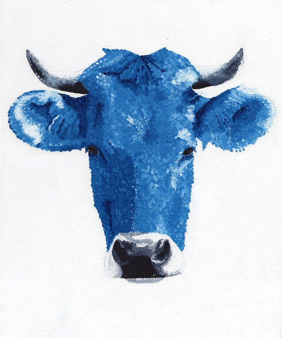 """Cow Oil Painting - """"Sacred Cow"""""""