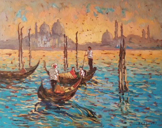 Venice at Sunset - One of Kind