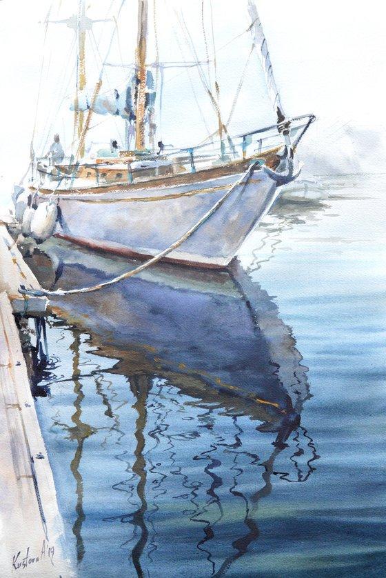 Boat 38x56 cm