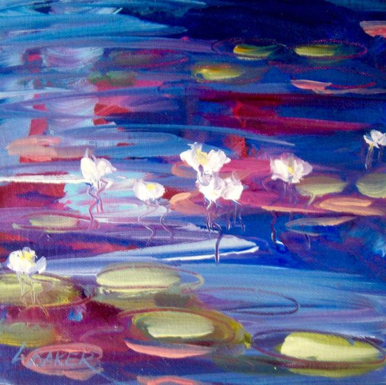Waterlilies Navy