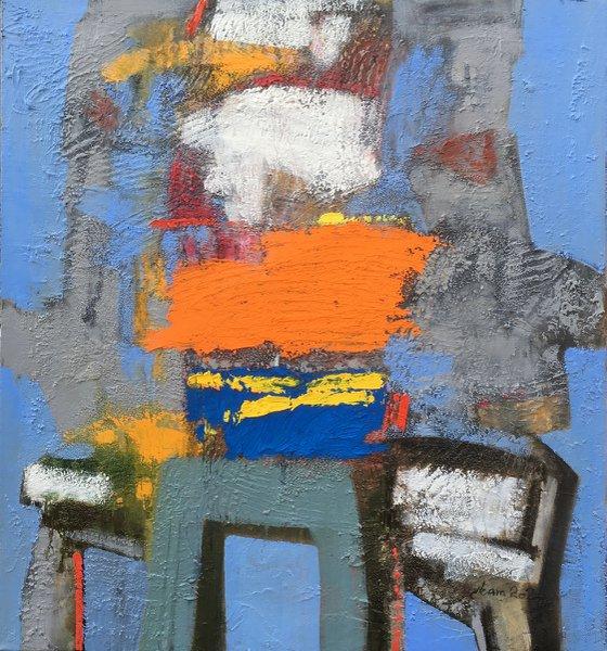 Color dream - 1 (60x55cm, oil painting)