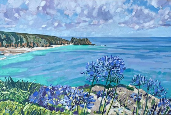 Porthcurno And Agapanthus