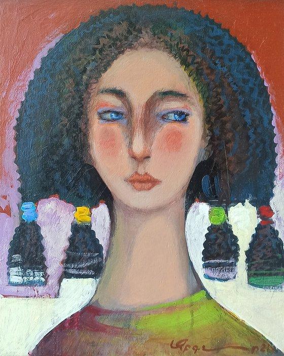 Girl portrait-1 (24x30cm ,oil/canvas)