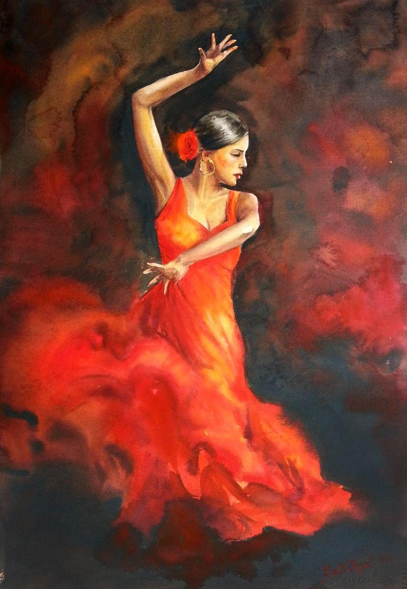 Картинка танцовщицы фламенко