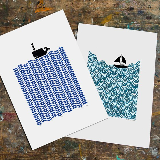 2 x A3 size Unframed Print Bundle - SAVE 20% for Worldwide Delivery