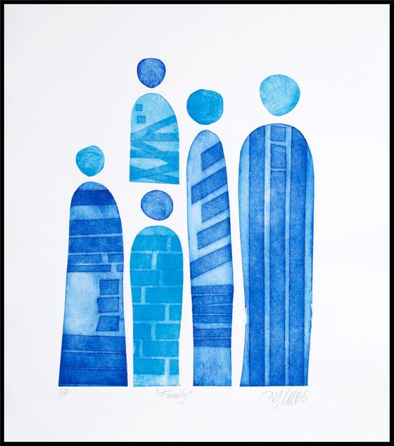 Family, collagraph