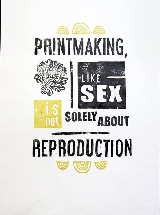 LINOCUT PRINT- printmaker