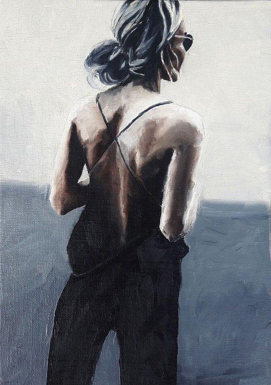 Modern Portrait on canvas panel