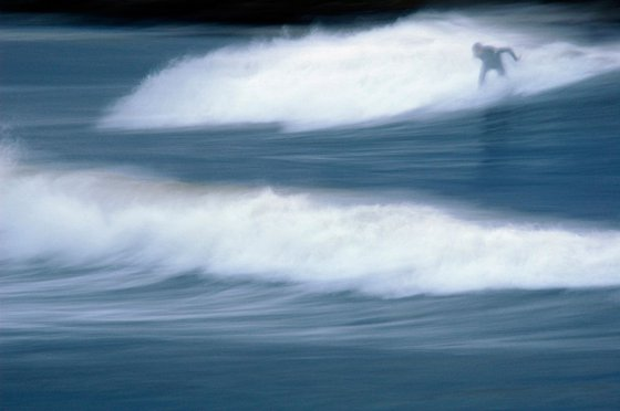 Surfing the winter sea   Limited Edition Fine Art Print 1 of 10   60 x 40 cm