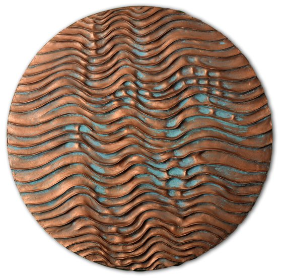 Round Erosion #03/10   Copper Coated Wall Sculpture
