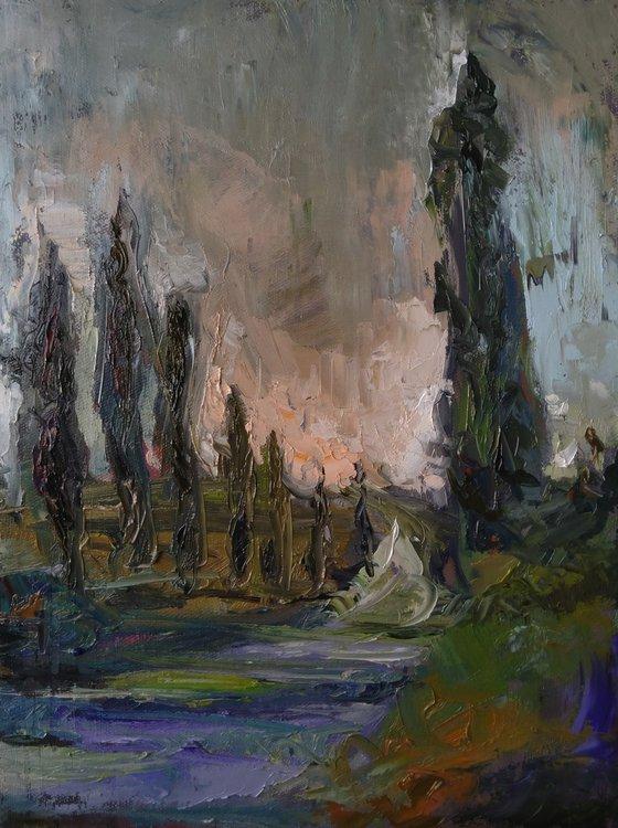 Wind 30x40cm ,oil/canvas, impressionistic