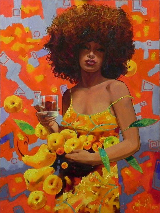 """Fruit festival"" Original Artwork Modern wall decor"