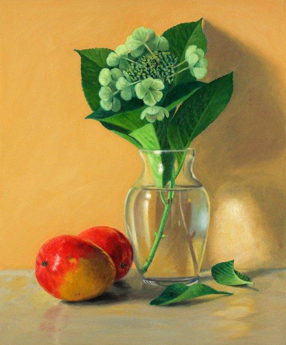 Mangos and Hydrangea