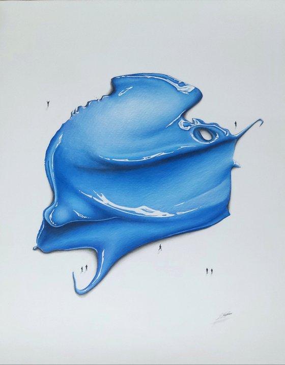 Cobalt Blue 144*** A Colour Pencil Drawing Of Paint
