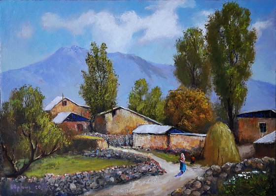 Summer (50x70cm, oil painting, ready to hang)