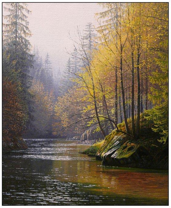 Autumn river changes