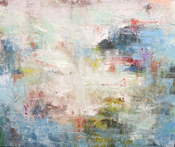 """""""Abstraction 65"""" Canvas / Oil;  size 50x60cm;  shipping is free"""