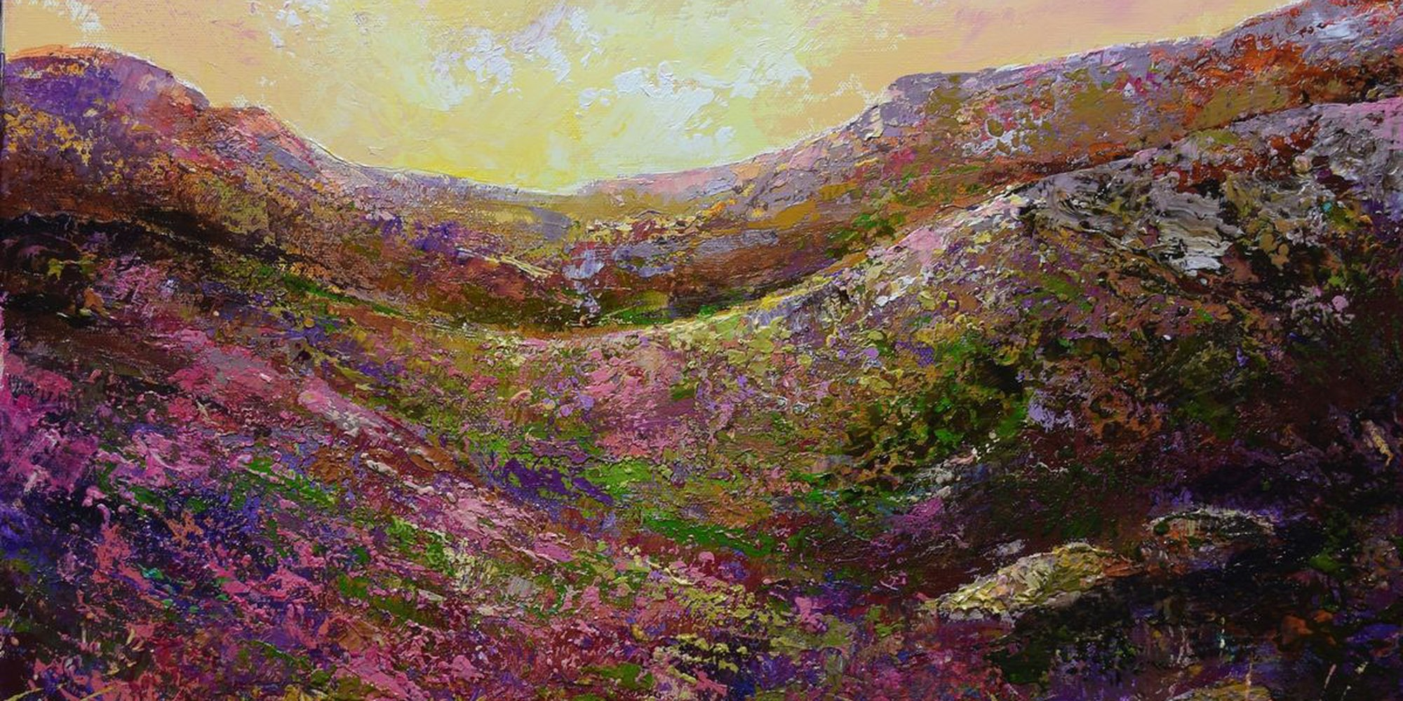 """Art of the Day: """"A View From The Ridge, 2017"""" by Colette Baumback"""