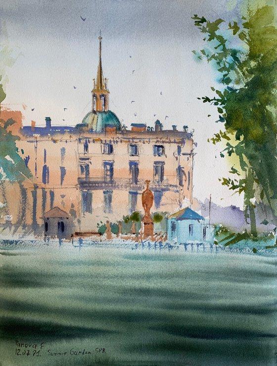 In The Summer Garden. St. Petersburg.