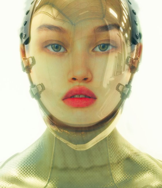 Almost Human - By TOMAAS prints under acrylic glass for sale
