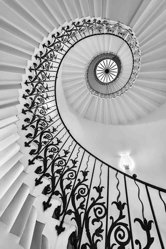 """The Queen's House Tulip Staircase, London  - 36x24"""" LARGE Limited Edition Print"""