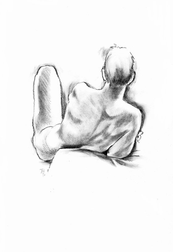 Male nude, back view