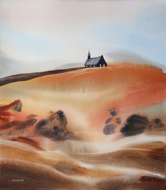 Iceland. Minimalist landscape
